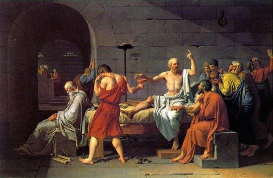 Sócrates y la cicuta.